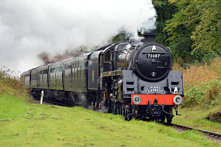 'Camelot' (as 73087 'Linette') at West Hoathly - David Long - 11 October 2019