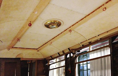 Ceiling in northern saloon of Car 54 - Richard Salmon - 14 December 2019