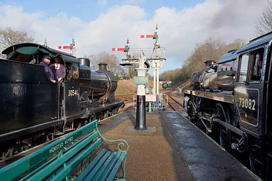 Q and 'Camelot' at Horsted Keynes - Brian Lacey - 14 December 2019
