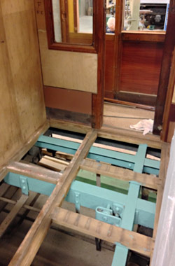 Floor lifted in compartment of 3687 - Richard Salmon - 19 February 2020