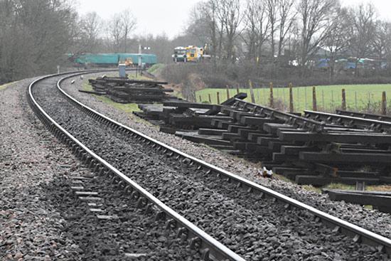 Track relaying within sight of Horsted Keynes - Jon Goff - 31 January 2020