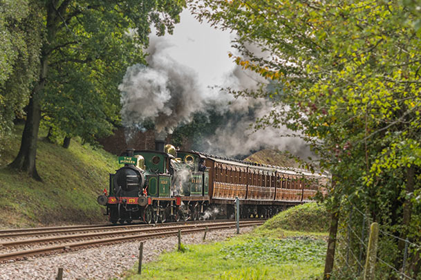 178 with the H-class north of Leamland Bridge - David Cable - 3 October 2020