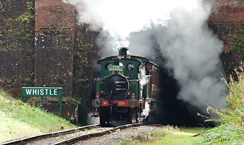 178 with the H-class exiting Sharpthorne Tunnel - Keith Duke - 3 October 2020