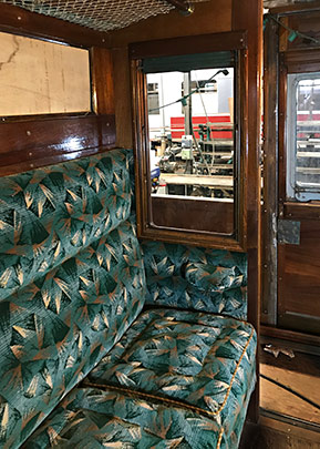 Interior of Maunsell coach 3687 under restoration - Richard Salmon - 4 October 2020
