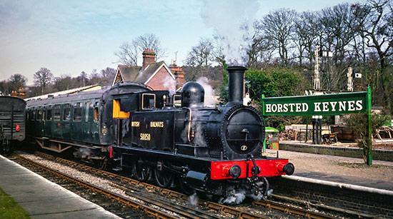 North London Railway tank at Horsted Keynes - Nigel Sealey - 5 March 1988