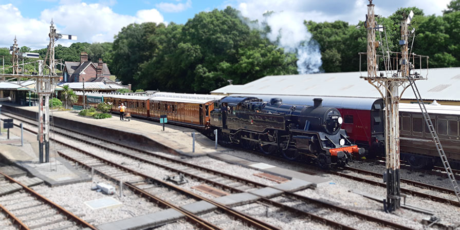 80151 with the 'ghost' train - Phil Jemmison - 2 August 2020
