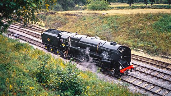 9F No. 92240 at Horsted Keynes - Nigel Sealey - 16 September 1990
