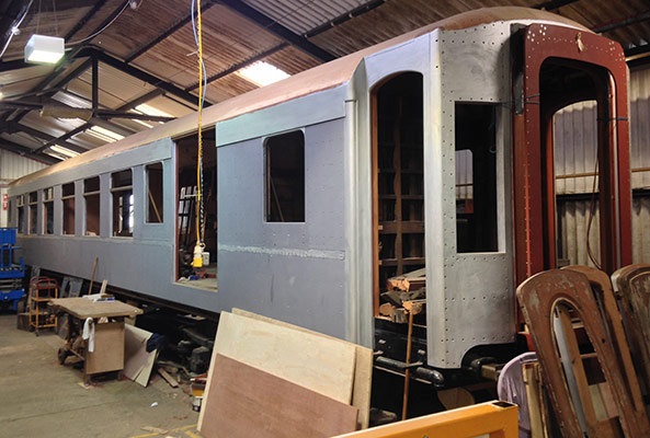 Pullman Car 54 in the Carriage Works - Richard Salmon - 22 March 2020