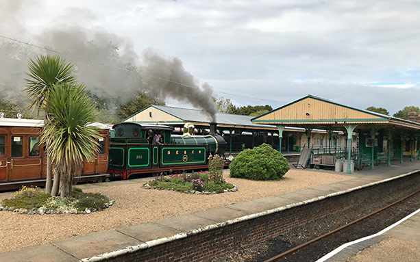 H-class runs through Horsted Keynes with 'The Pioneer' - Richard Salmon - 10 October 2020
