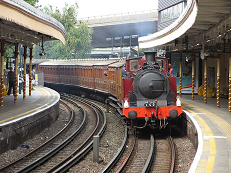 Met 1 and our carriages at Westbourne Park - Dan Hamblin - 2 August 2014