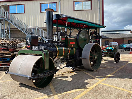 Aveling and Barford steam roller at Sheffield Park - Reuben Smith - 6 September 2020