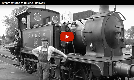 Video - Steam returns to Bluebell Railway
