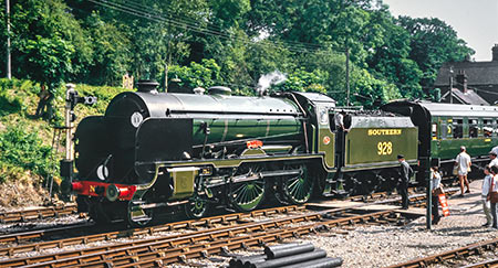 Stowe and 1309 at Horsted Keynes - Nigel Sealey - 13 July 1985