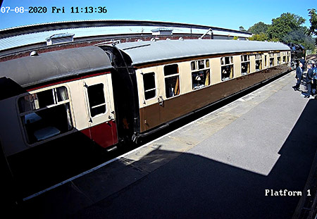 Webcam capture - 80151 with the lunch train