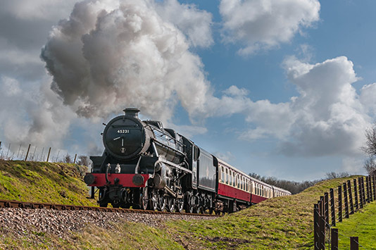 Charter with Black 5 No. 45231 - David Cable - 26 February 2014