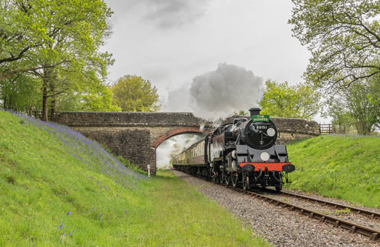 80151 with the bluebells at Birchstone Bridge - David Cable - 20 May 2021