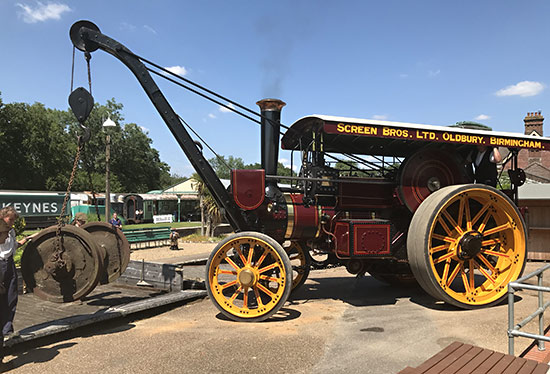 Crane engine in action - Richard Salmon - 18 July 2021