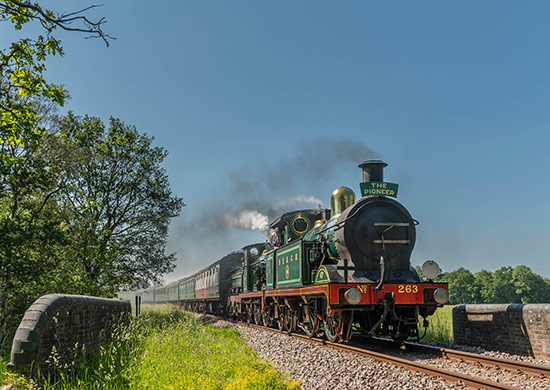 H-class 263 and O1-class 65 doule heading a service train - David Cable - 13 June 2021