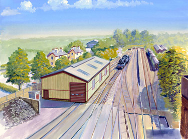 Artist's impression of the new locomotive maintenance shed