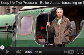Video for 'Keep Up The Pressure' Boiler Appeal focussing on No.928 'Stowe'